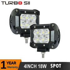 2x 18W Cree Led Work Lights Pods Spot Offroad Lamp For ATV JEEP UTE 4'' Cube