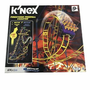 K'Nex KNEX Firestorm Freefall Coaster with most pieces and motor roller