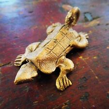 African Ashanti, Ghana, Cast Brass Turtle Gold Weight Figure Pendant