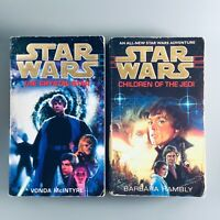 Star Wars 2 Paperback Book Set - The Crystal Star + The Children Of The Jedi