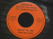 1SW SEEBURG 5022 JAZZ RHYTHM TOMMY WILLS COMBO THAT'S ALL WALKIN MR SAX