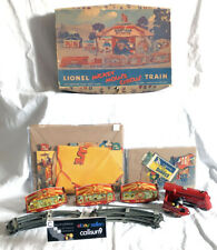 Rare 1930's Lionel Mickey Mouse Circus Train Set w/org box Disney Tin Windup Toy