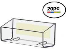 20 Acrylic Plastic Peel & Stick Clear Wall Mount Business Card Holder Displays