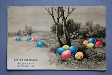 R&L Postcard: Greetings, Easter Coloured Eggs, Alpha Series