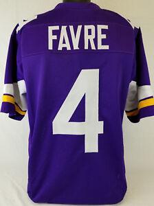 Brett Favre Unsigned Custom Sewn Purple Football Jersey Size 3XL