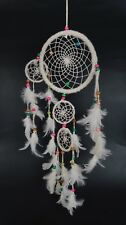 Bermoni Handmade Design Dream Catcher Net With White Feathers Wall Hanging Decor