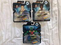 Lot Of 3 HotwheeLs DC Character Cars Martian Manhunter & Shazaam! Brand New