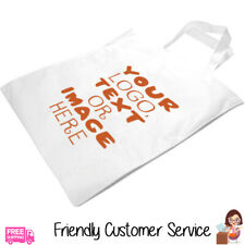 CUSTOM TOTE BAG PERSONALISED SHOPPING BAG GIFT YOUR PHOTO, LOGO OR TEXT PRINTED