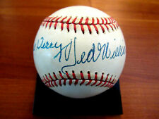 TED WILLIAMS BILL TERRY LAST TWO .400 HITTERS HOF SIGNED AUTO ONL BASEBALL JSA