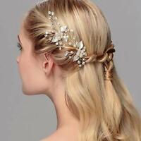 6 Bridal Party Wedding Veil Crystal Flower Hair Pins H10
