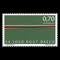 "Luxembourg 2016 - 50th Anniv the Rout Breck ""The Red Bridge"" - Sc 1442 MNH"