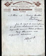 """NANTES (44) DROGUERIE DU CHATEAU / PRODUITS LA COMETE """"Paul MARTINETTY"""" en 1917"""