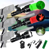 Hunting Flashlight LED Red Green White Light Torch Coyote Hog Varmint Predator