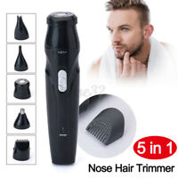 5 in 1 Electric Shaver Men Nose Hair Trimmer Eyebrow Beard Razor Rechargeable