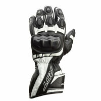 RST Axis CE Moto Motorbike Motorcycle Leather Gloves Black / White