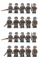 WW2 20 Minifigure - LEGO Compatible WWII Soldiers Troops German WW1 Kar-98