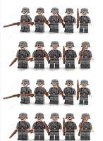 WW2 20 Minifigure - LEGO Compatible WW2 Soldiers Troops German