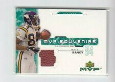 RANDY MOSS 2001 Upper Deck MVP SOUVENIRS GAME USED FOOTBALL  VIKINGS