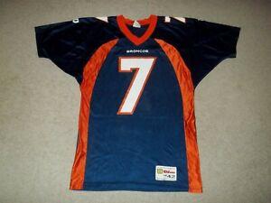 Vintage Rare 1990's John Elway Denver Broncos Wilson Medium sz 42 Blue #7 Jersey