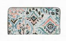 """NWT Sakroots Slim Wallet Turq Brave Beauti Coated New 6.5""""x3.5"""" SHP IN'TL"""