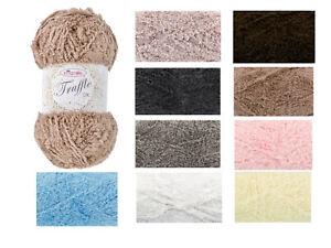 King Cole Truffle DK 100g Ball - Fluffy Soft Teddy Knitting Wool / Yarn