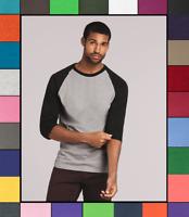 Gildan Adult Heavy Cotton Three-Quarter Raglan Sleeve Baseball T-Shirt - G570