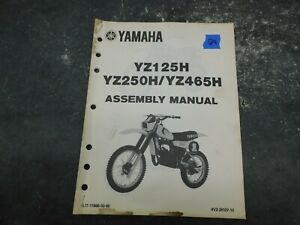 Motorcycle Repair Manuals Literature For Yamaha Yz125 For Sale Ebay