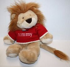 """Commonwealth 2001 Tommy Hilfiger LION 15"""" Red Sweater Plush Stuffed Soft Toy"""