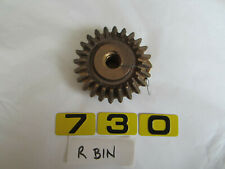 BRASS 24 TOOTH BEVEL GEAR WITH ACME THREADED SHAFT