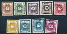 SBZ Nr. 42-50 A gestempelt, Freimarken 1945/46 (61300)