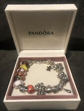 Pandora ALE 925 Sterling Silver 21 Retired Charms Beautiful Bracelet Lot Set