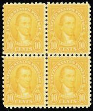 591, Mint 10¢ F/VF Block of Four Stamps Cat $250.00 - Stuart Katz