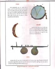 INDIA - MUSICAL INSTRUMENTS PRINTS ON 12 SHEETS - DESCRIPTION IN HINDI