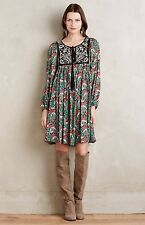NEW Anthropologie Otteva Peasant Dress Size Small Floral Print
