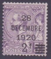 "MONACO STAMP TIMBRE N° 50 "" PRINCE ALBERT 1er 2F s. 5F VIOLET "" NEUF xx TTB"