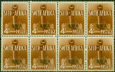 More details for s.w.a 1941 4d orange-brown sg118 v.f mnh block of 8, 4 pairs