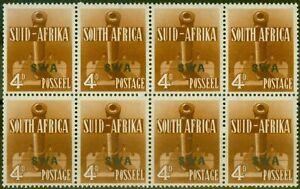 S.W.A 1941 4d Orange-Brown SG118 V.F MNH Block of 8, 4 Pairs