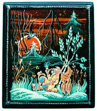 A la CHASSE - Boite laquée Kholoui, Boite collection russe, Artisanat Russe