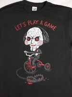 Saw Horror Movie Jigsaw Puppet On Bicycle Lets Play a Game T-Shirt