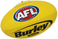 """AFL BURLEY """"ATTACK"""" SYNTHETIC YELLOW FULL SIZE FOOTBALL - BRAND NEW"""