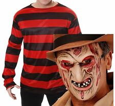 Freddy Freddie Krueger Elm St Halloween Fancy Dress Costume Jumper Burnt Mask