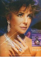Publicité Advertising 1988  Parfum  PASSION  ELIZABETH TAYLOR'S