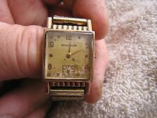Vintage Waltham  Watch 17 Jewels 750 14K Gold Filled Wadsworth
