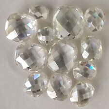 White Cushion Rose Cut Loose Moissanite For Ring 1.15 Ct 6.26 x 5.39 Mm Vvs1 Off