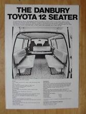 TOYOTA HI ACE 12-SEATER 1976 UK Mkt Sales Leaflet Brochure - Danbury Conversion