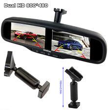4CH HD 4.3''TFT LCD Screen 800*480 Anti-glare Rear View Monitor Mirror+1#Bracket