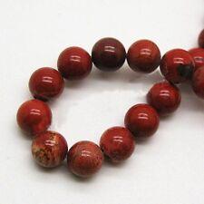 20 X Rond Rouge Jasper gemstone beads 10 mm jr0006-l