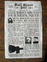 (260) NOVELTY POSTER HALLOWEEN LIZZIE BORDEN ACCUSED OF MURDER FALL RIVER 11x17""