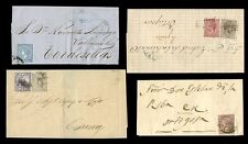 SPAIN 1866-1875...6 stamps on 4 COVERS...+ WAR TAX