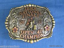 Clint Mortenson Sapphire Ruby Rodeo Barrel Racer Belt Buckle Barrel Racing Award